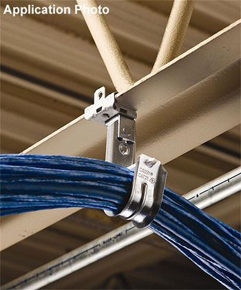"Caddy CAT12 J-Hook 3//4/"" Diameter Loop J-Hook Lot of 4 Cable Management"
