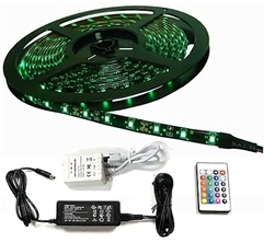 Calrad 92-301-RGB-R-KIT300 3-Chip LED RGB 5-Meter Light Strip on reel with Remote and Power Supply