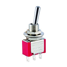 NTE 54-301E Toggle Switch - SPDT - 5A 120VAC - ON-NONE-(ON) - Epoxy Sealed Solder Terminals