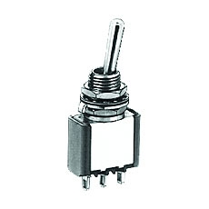 NTE 54-303 Toggle Switch - SPDT - 6A 125VAC - ON OFF ON - Epoxy Sealed Solder Terminals