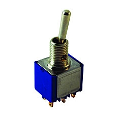 NTE 54-307 Toggle Switch - DPDT - 6A 125VAC - ON NONE ON - Epoxy Sealed Solder Terminals