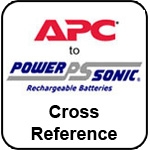 APC to Power-Sonic Battery Cross Reference Page