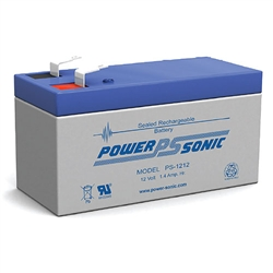 PS-1212F1 12V 1.4ah Amp Hour Rechargeable Battery - Sealed Lead Acid  - SLA Battery W/.187