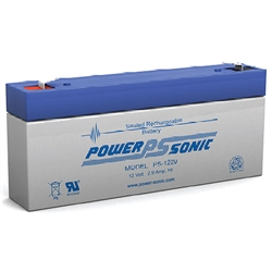 PS-1229F112V 2.9ah Amp Hour Rechargeable Battery - Sealed Lead Acid  - SLA Battery W/.187
