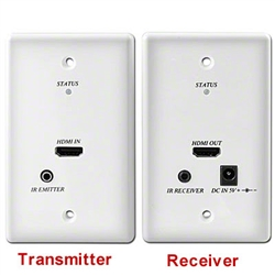 HDMI & IR Repeater CAT5 Extender Wall Plate