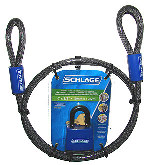 Schlage 994800 Flexible Cable and Weatherproof Padlock 4' x 3/8