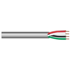 4-Conductor 16AWG Stranded Unshielded PVC Cable 100ft.